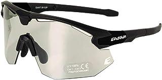 EASSUN Gafas de Ciclismo Giant, Fotocromáticas, Antideslizantes y Ajustables con Sistema de Ventilación - Negro y Amarillo