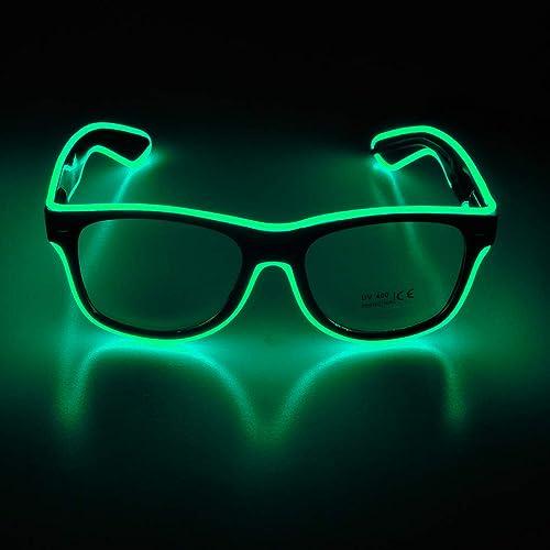 Alien Goggles Light Up Gris Glow Accessoire