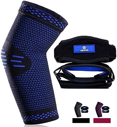 New Technology Elbow Compression Sleeve 1 Pack Tennis Elbow Brace 2 Pack Best Elbow Support product image
