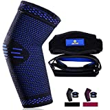 [2 Pack] Elbow Brace Straps + [1 Pack] Elbow Brace Compression Sleeve, Tennis Elbow Brace with Medical Compression for Men and Women