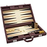 Luxus Braun Backgammon Set -