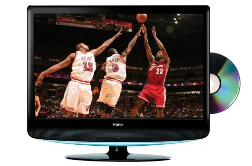 Buy Haier HLC19R 19-Inch Widescreen LCD HDTV with Built-In DVD Player (Black)