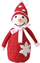FREEDARE Christmas Decorations 100% Handmade Wool Felt Christmas Ornaments (Red Snowman)