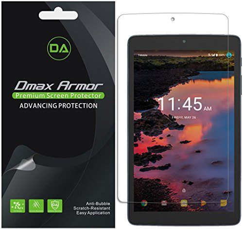 Dmax Armor [3-Pack] for Alcatel A30 Tablet 8 Screen Protector, Anti-Bubble High Definition Clear Shield