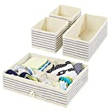 mDesign Juego de 4 Cajas organizadoras para Cuarto Infantil – Elegantes cestas...
