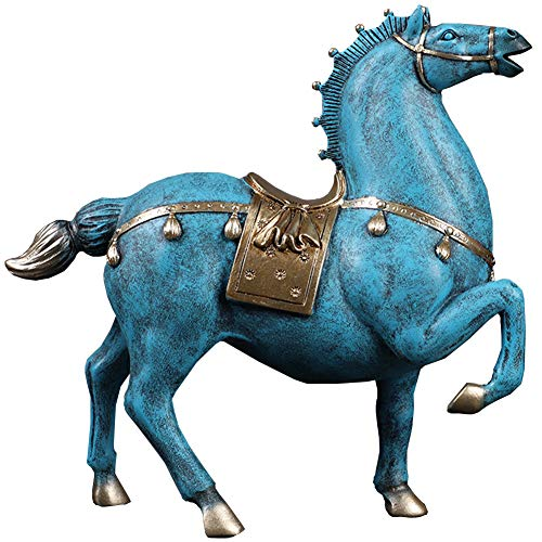 J.Mmiyi Horse Statues and Figurines for Living Room, Animal Sculptures Tabletop Decor Ornaments, Wealth And Success Good Lucky Gifts,B