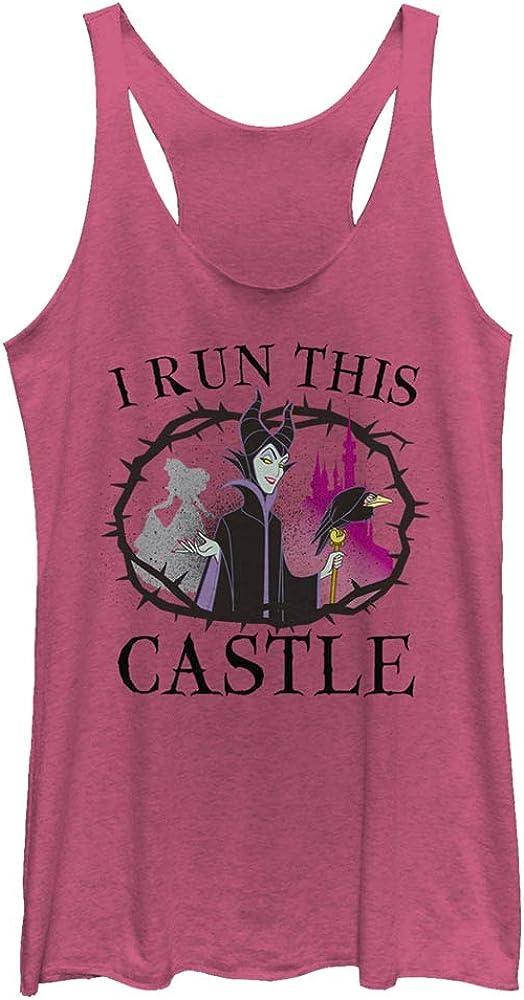 Disney Women's Princess Maleficent I Run This Castle Tri-Blend Racerback Layering Tank
