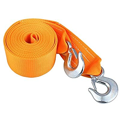 "Sedeta Tow Strap Rope, 3"" X 18' 8 Ton 3 Inch X 18 Ft 2 Hooks Towing Recovery"