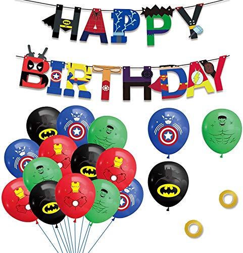 Decoracion Birthday Superheroes Superhero Balloons Superhero Happy Banner Birthday