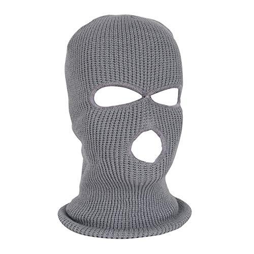 Invierno cálido esquí ciclismo 3 agujeros pasamontañas capó máscara máscara facial completa táctica del ejército para 15.75-24.41 pulgadas alcance de la cabeza