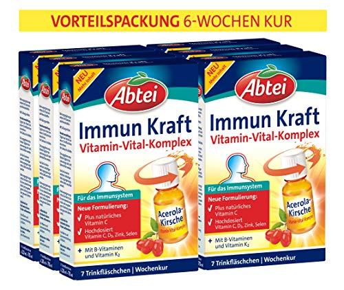 Abtei Immun Kraft - Nahrungsergänzungmittel zur Unterstützung des Immunsystems und zur Verringerung von Müdigkeit - 42 x 10 ml, Vorteilspackung, 787 g