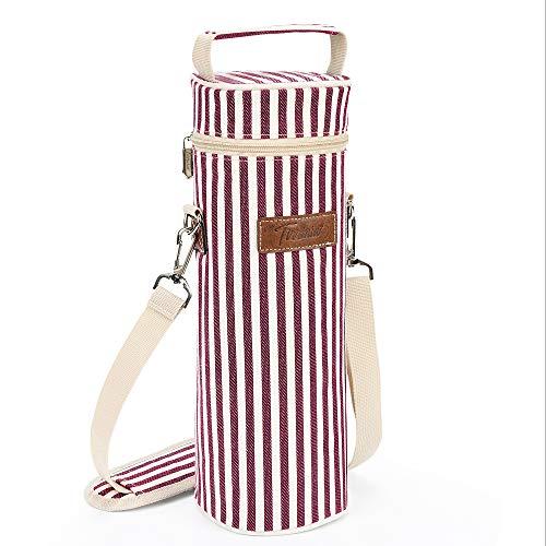 Kato Tirrinia Flaschentasche für 1 Flasche Kühltasche Isolierter und Tragbarer Wein Tasche für Reisen, BYOB Restaurant, Weinprobe, Party, tolles Geschenk für Weinliebhaber
