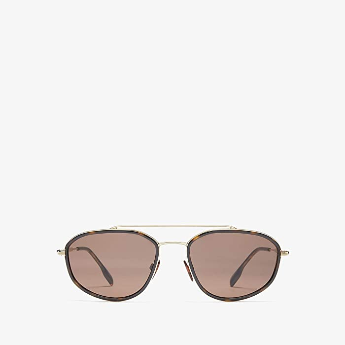 Burberry  0BE3106 (Light Gold/Dark Havana/Brown) Fashion Sunglasses