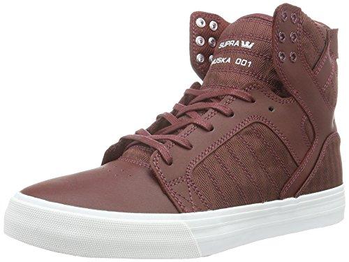 Supra Herren Skytop Hohe Sneakers, Rot (Burgundy-White 650), 44 EU