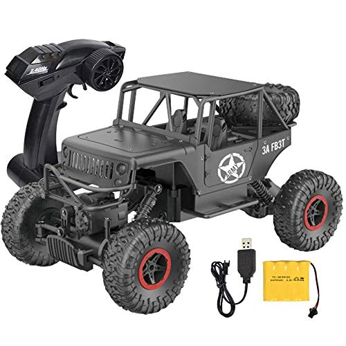 Zixin Remote Control Car, Rc Drift Car Children 2.4G Four-wheel Drive Climbing Off-road Bigfoot Mountain Bike Electric Drift Car Model Toy For Kids Adults Toddlers Boys Girls Birthday (Color : Gold
