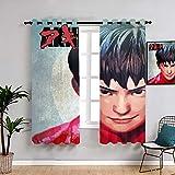 Akira Kaneda - Set di tende lavabili impermeabili per finestra, per camera da letto, soggiorno, cucina, 55 x 45 cm