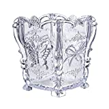 Butterfly Cosmetic Makeup Brush Holder Box Case Pencil Pen Storage Organizer (Transparent)