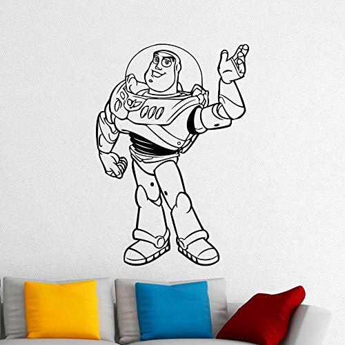 zqyjhkou Buzz Lightyear Wand Vinyl Aufkleber Woody Jessie Cartoon Vinyl Aufkleber Home Kinderzimmer Kindergarten Kunst Dekor Design DIY Wandbild 73x50cm