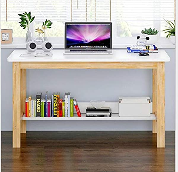 Fiudx Computer Desk Home Simple Study Desk Simple Modern Bedroom Solid Wood Table 47 2 23 6 29 1in