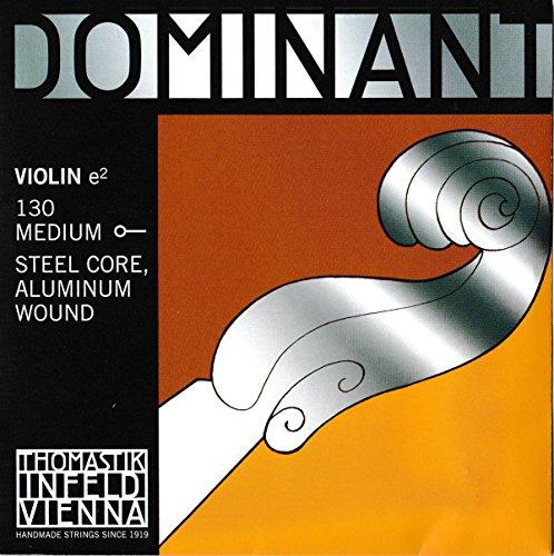 Thomastik Einzelsaite für 4/4 Violine Dominant - E-Saite Stahlkern, Alu. umsponnen, mittel, Kugel