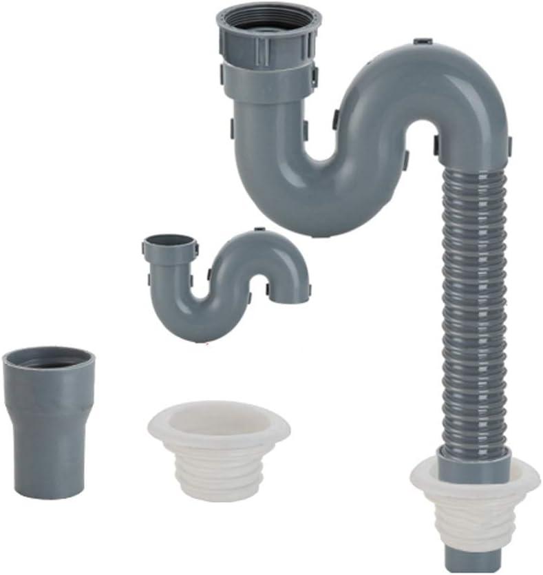 Amazon Com Hose Kitchen Sink Drain Tube Drain Pipe Plastic Double Head Single Head Sink Leaking Pipe Accessories Mumujin Size 2 6m Home Kitchen