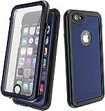 CellEver Waterproof Case for iPhone 8 / iPhone 7, 4.7-Inch, Waterproof IP68 Certified Shockproof Dirtproof Sandproof Snowproof Full Body Sealed Protective Cover KZ-C (Navy Blue)