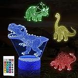 3D Lámpara, luz Nocturna de ilusión LED Smalody con 16 Colores y 4 Patrones con Control Remoto y lámpara táctil Inteligente niños [Clase energética A +]