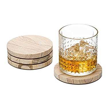 Granisand Natural Sandstone Coasters (Set of 4) (Multicolor)