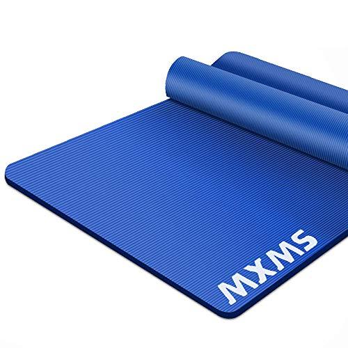 YUREN Yogamatte XL Groß 185 x 90 x 1,5 cm Extra Dick und Breit Gymnastikmatte für Männer Frauen NBR Pilate Cardio Crossfit Fitness Matte mit Riemen & Tasche