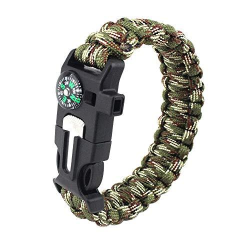 TecHong 5 in 1 Sports Paracord Bracelet
