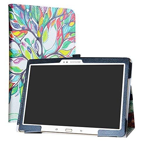 Labanema Galaxy Tab S 10.5 Custodia, PU Pelle Slim Flip Case Cover Protettiva Pieghevole Stand per Samsung Galaxy Tab S 10.5 Pollice T800 T805 Tablet - Love Tree