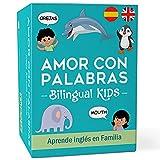 AMOR CON PALABRAS - Bilingual Kids 🌎 | Juegos de Mesa para Niños para Aprender a Leer y Hablar en Inglés y Español. Juegos de Mesa Familiares para Pasarlo Genial Mientras Se Aprende en Familia.