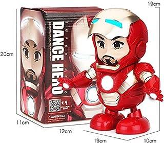 Virgin pot Dancing Iron Man Dancing Hero Marvel Fingers Avengers Toys with Music, for Child Boys Girls Gift (Iron Man)