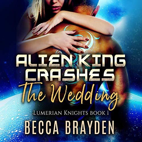 Diseño de la portada del título Alien King Crashes the Wedding