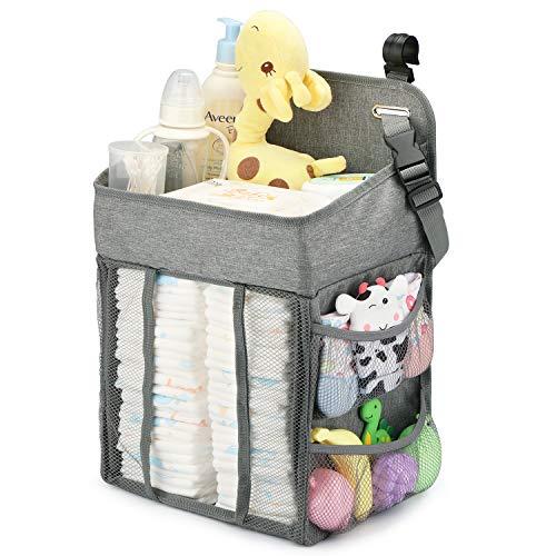 Maliton Windel Organizer,Hängeaufbewahrung Windel Baby,Wickel Organizer,Wickeltisch Organizer für babybett,wickelkommode,baby reisebett.