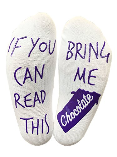 'If You Can Read This Bring Me Chocolate' Funny Socks for a Chocolate lover