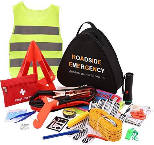 Sailnovo Kits de Emergencia del Coche Portátil Asistencia en Carretera Multifuncional (76 en 1)