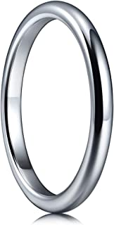 2mm 4mm 6mm 8mm Tungsten Wedding Ring for Women Mens Plated Rose Gold Polished Band