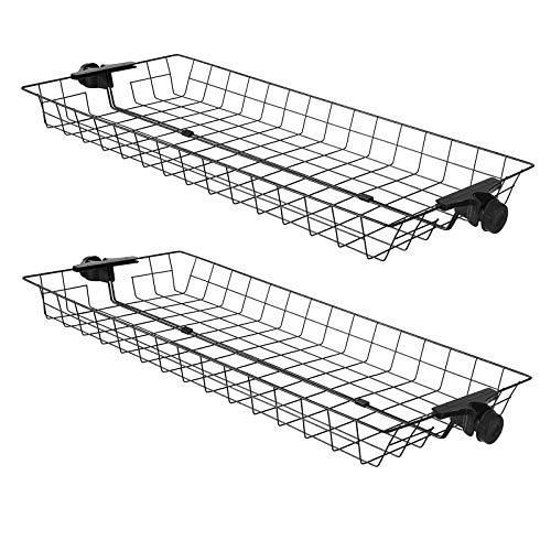 SoBuy FRG34-P02 2er Set Aufbewahrungskörbe für Kleiderständer Körbe für Teleskop Garderoben System Metall
