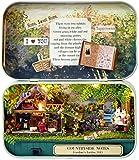 Junean DIY Dollhouse Kit Hecho a Mano Pieza de Madera Casa de muñecas Set Mejor Regalo de cumpleaños de Navidad-Naciones Unidas
