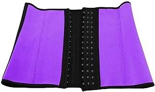 RZDJ Slimming Abdominal Belt Body Shaper for Women Sexy Shapewear Latex Waist Trainer Lose Weight Shaper Waist Cinchers (Color : Purple, Size : M)