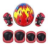 iiniim Casco de Protección Seguridad Mariquita Escarabajo para Niños Unisex Casco Infantil Mono Ajustable Dibujo Animado para Ciclismo Patinaje sobre Ruedas Bicicleta Rojo B One Size