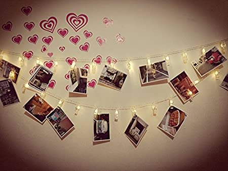 Photo clip string lights - a clever dorm decoration and a great graduation gift!