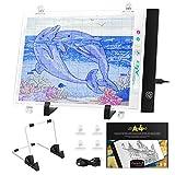 Magicfly Mesa de Luz LED para Calcar Dibujos para Artistas, Dibujantes, A4 Tableta de Luz para Dibujos, Ilustración, Diseño, Cómic, Animación, 3 Modos de Iluminación, Cable USB
