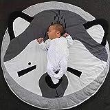 Queta Krabbeldecke Kuscheldecke aus Baumwolle Weiche Schlafteppich Cartoon Baby Spielmatte Spieldecke 90cm (Fuchs)