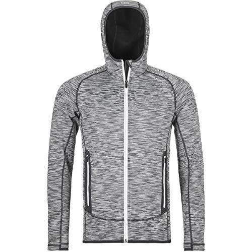 ORTOVOX Herren Fleece Space Dyed Hoody, Grey Blend, L