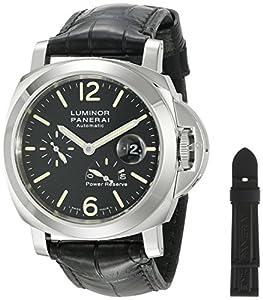 Panerai Men's PAM00090 Luminor Power Reserve Black Dial Watch image