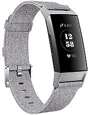 KIMILAR Bransoletki kompatybilny z Fitbit Charge 4 / Charge 3 z materiału, szybkozamykaczem, nylonowy pasek zamienny do trackera fitness Charge 4/3/SE