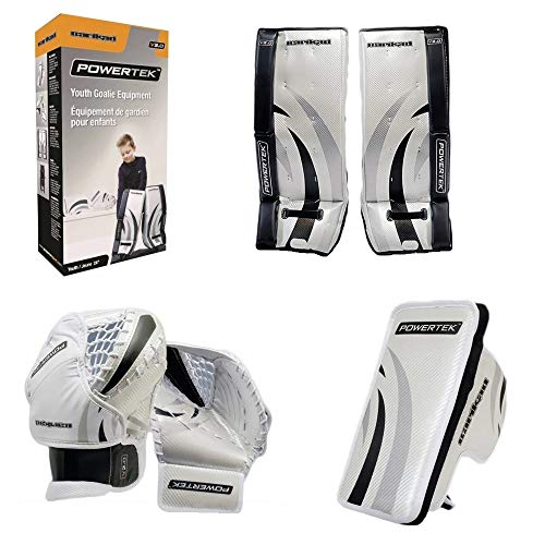 PowerTek Barikad V2.0 Youth Ice Hockey Goalie Pad Set - 22