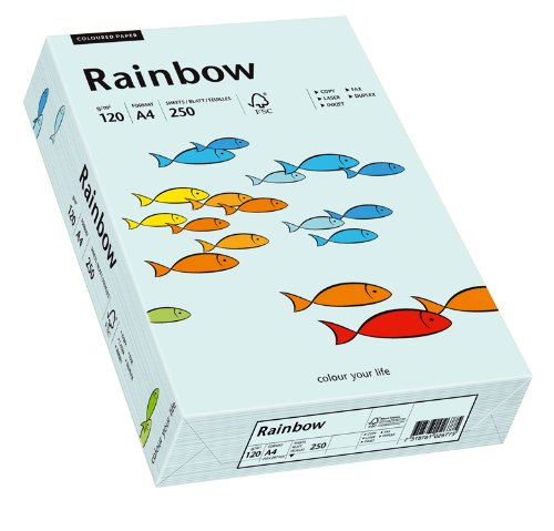 Papyrus 88042700 Farbiges Kopierpapier, Bastelpapier: Rainbow 120 g/m², A4, 250 Blatt, hellblau